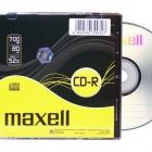 Irható CD - ÍRHATÓ CD MAXELL CD-R80 (52X) SLIM (HOL)