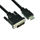 Monitor kábel - VCOM KÁBEL HDMI-DVI 3M (HDMI M--DVI24+1M 1080P)