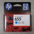 HP 655 kék (cyan) CZ110AE