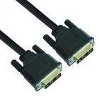 Monitor kábel - VCOM KÁBEL DVI SINGLE LINK 1.8M, FEKETE (DVI18+1 M/M, 1080P)