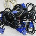 Monitor kábel - Használt vegyes VGA kábel 1.8M