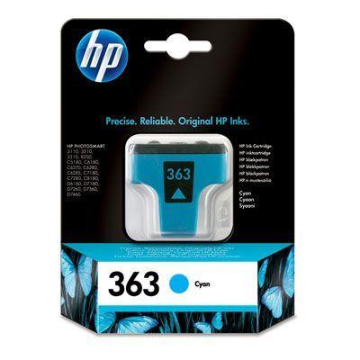 Lejárt szavatosságú eredeti patron - HP 363 CYAN (8771EE)