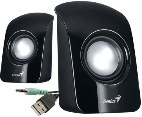 Hangszóró - Fejhallgató - Genius SP-U115 2.0 USB hangszóró fekete