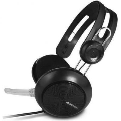 Hangszóró - Fejhallgató - Canyon USB Stereo Headset CNE-CHSU1B