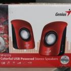 Hangszóró - Fejhallgató - Genius SP-U115 2.0 Hangszórók (USB Power) piros