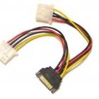 Kábel átalakító - VCOM SATA -> 2x molex Tápkábel átalakító