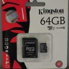 MicroSD - Kingston 64GB micro SD XC Class 10 adapterrel