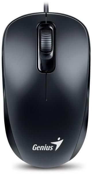 Vezetékes egér - Genius DX-110 fekete USB egér