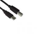 USB kábel - VCOM KÁBEL USB 2.0 PRINTER KÁBEL 5.0M FEKETE, PRÉMIUM (AMBM)