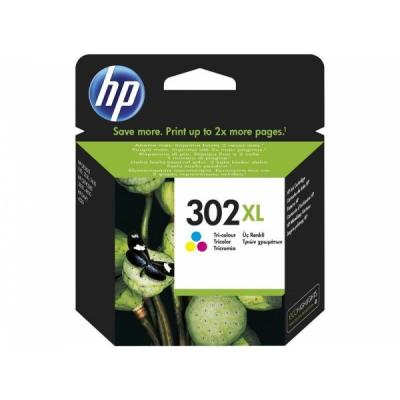 HP 302XL színes F6U67AE