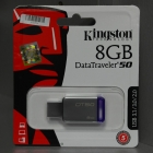 Pendrive - Kingston 8GB USB3.0 Ezüst-Lila (DT50/8GB) pendrive