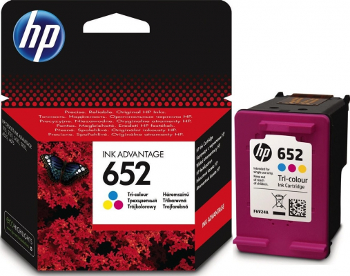 Eredeti HP patron - HP 652 színes F6V24AE