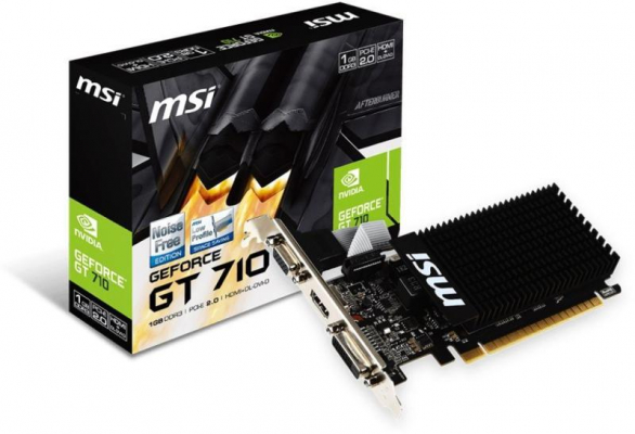 Videókártya - MSI GT710 1GB DDR3 LP PCI-E VGA
