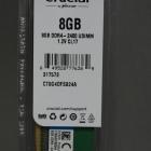 Memória DDR4 - Crucial 8GB DDR4 2400MHz CL17