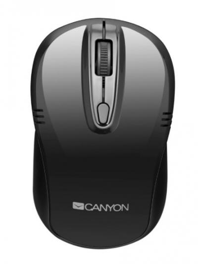Vezeték nélküli egér - Canyon CNE-CMSW2 2.4Ghz fekete vezeték nélküli optikai egér