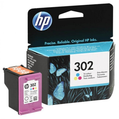 Eredeti HP patron - HP 302 színes F6U65AE