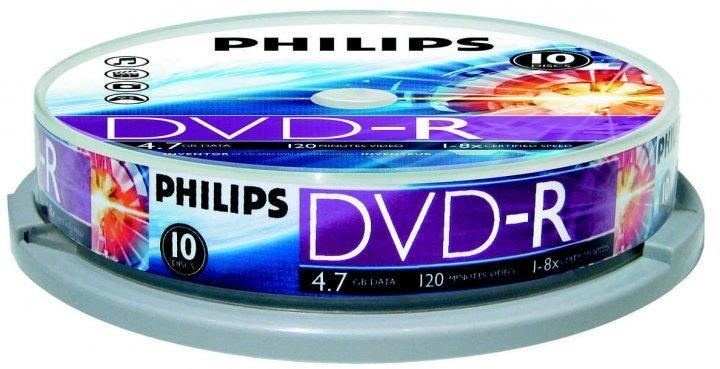 Irható DVD - Philips DVD-R 10db/henger
