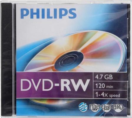 Irható DVD - Philips újraírható DVD lemez (DVD-RW) 4x