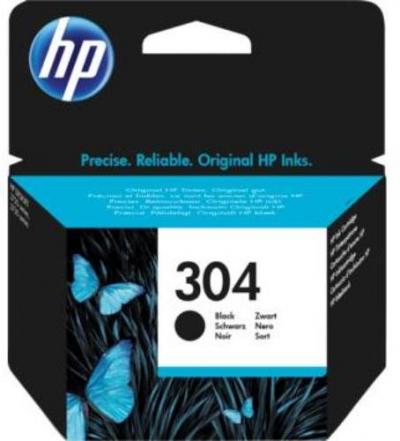 Eredeti HP patron - HP 304 fekete N9K06AE
