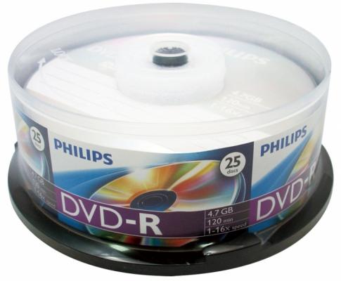 Irható DVD - Philips írható lemez DVD-R henger 25db