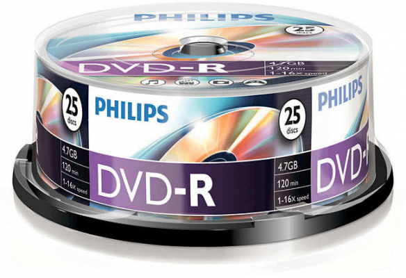 Philips DVD-R 25db/henger