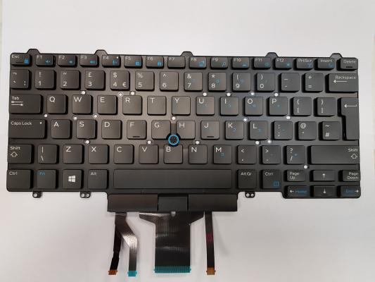 Notebook billentyűzet - Dell Latitude E7450 új angol világító billentyűzet (trackpointos)