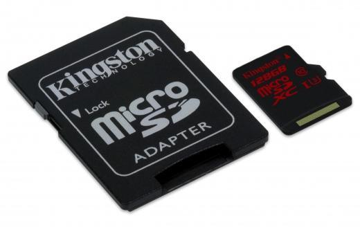 MicroSD - Kingston 128GB Micro SDXC 1Adapter CL10 SDCS/128GB