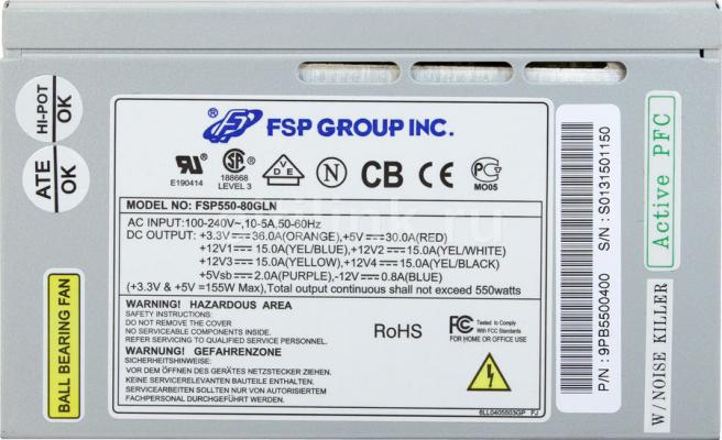 Használt 550W FSP táp FSP550-80GLN