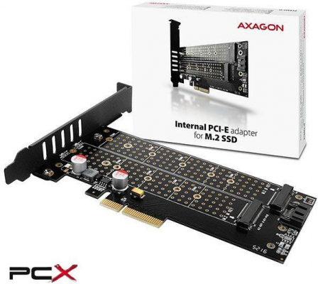 PCI bővítőkártya - Axagon PCEM2-D PCIe NVMe + NGFF M.2