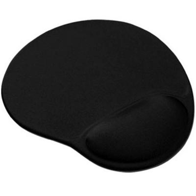 Egérpad - Csuklótámaszos egérpad fekete színű (MP-GEL-BLACK)